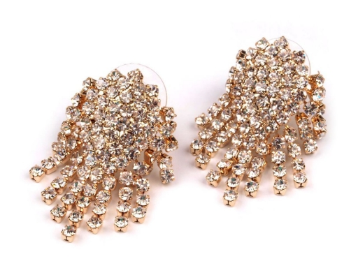 Ohrringe Strass 20x30 mm