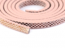 Lederband flach Meterware 5 mm breit metallic