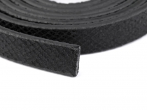 Lederband flach Meterware 10 mm breit metallic