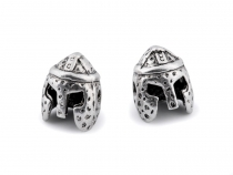Metallperle Helm 10x12 mm
