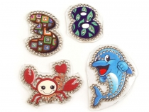 Mix of Iron-on Patches with Rhinestones