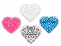 Iron-on Patch Heart with Sequins