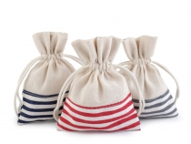 Linen Bag with Stripes 10x13 cm