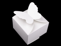 Paper Favour Box with Butterfly 7x10.5x10.5 cm